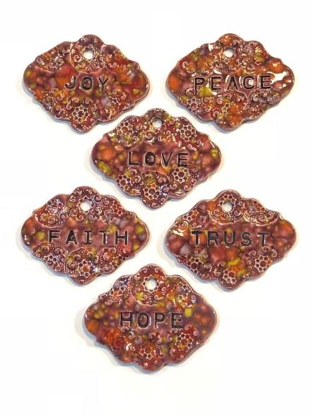 Gift marker ceramic set floral fantasy