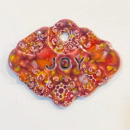 joy ceramic gift marker