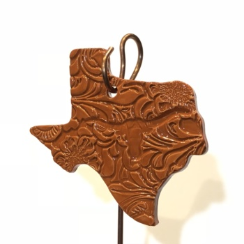Texas Longhorns Ceramic Ornament