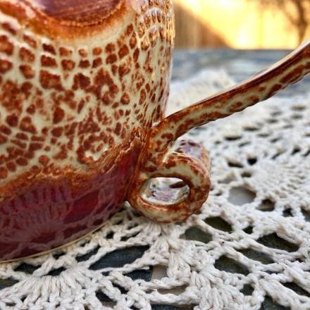 Wave Lace Mug #1 handmade pottery