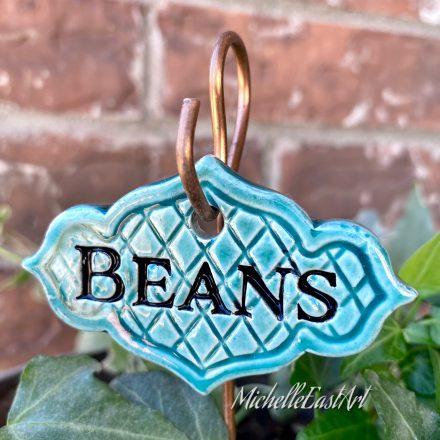 Beans garden marker label