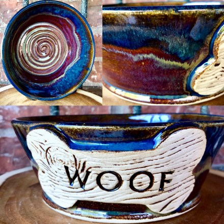 Woof Dog Bowl Stoneware