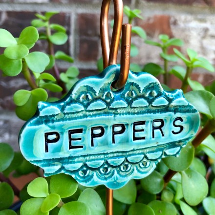 Peppers Ceramic Garden Marker