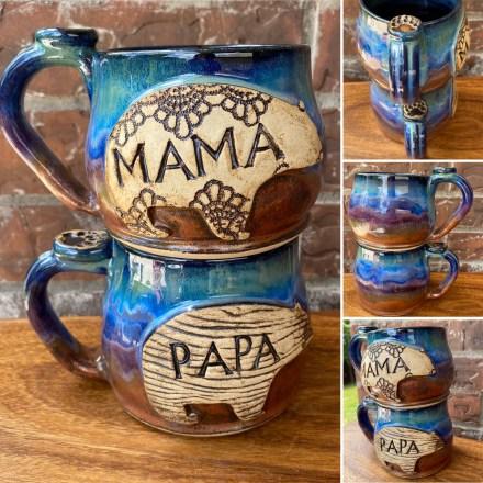 Mama Bear and Papa Bear Handmade Mug