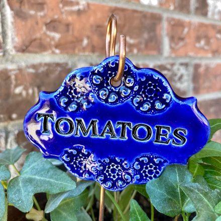 Tomatoes Ceramic Garden Marker