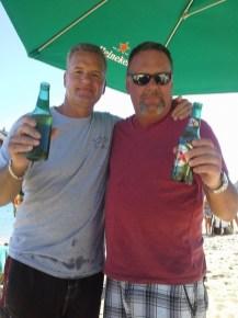 Rick and Kevin at the Mango Deck