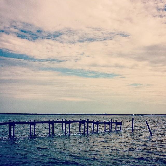 The Dock #seascape #hamptonbays #hamptons #longisland #adoramapix #landscape #newyork #dramatic #blue