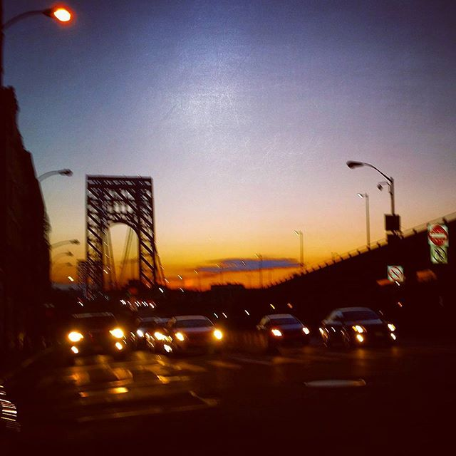 George Washington Bridge At #Sunset  #gwbridge #washingtonheightsny #newyork #nyc #uptown