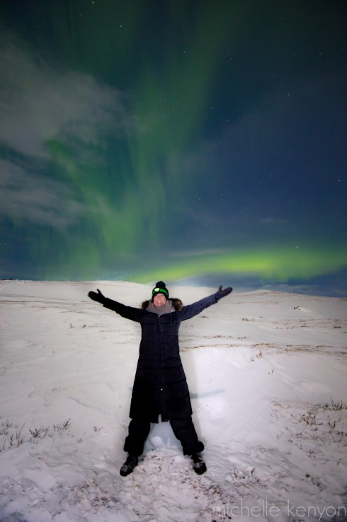 Me in front of northern lights