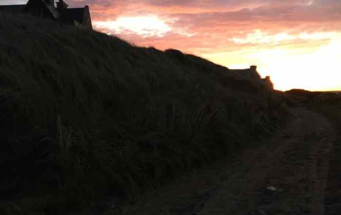 Sunset Trump Hotel Doonbeg Ireland
