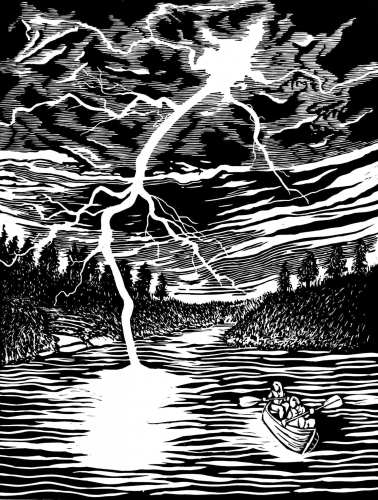 Title: That Time We Canoed Through a Thunderstorm…