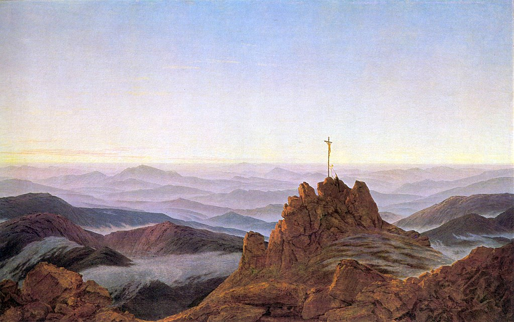 The Cross on Top of the Rocks (1810-1811) by Caspar David Friedrich