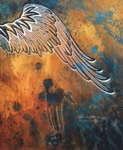 Divine Help (Psalm 63:7-8), 2018 by Michelle L Hofer