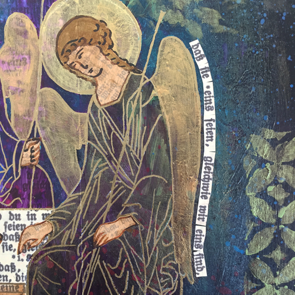 We Are One (The Holy Trinity after Rublev), 2018 by Michelle L Hofer - detail Translation:…that they may be one even as we are one. - John 17:22b