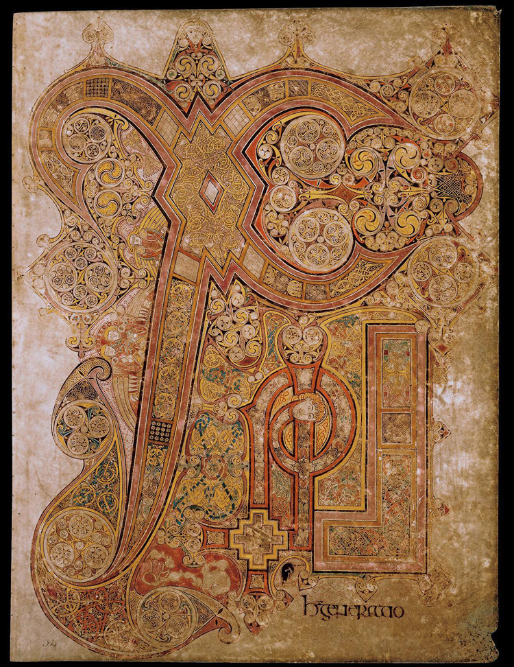 The Chi-Rho Page (folio 34r) from the Book of Kells