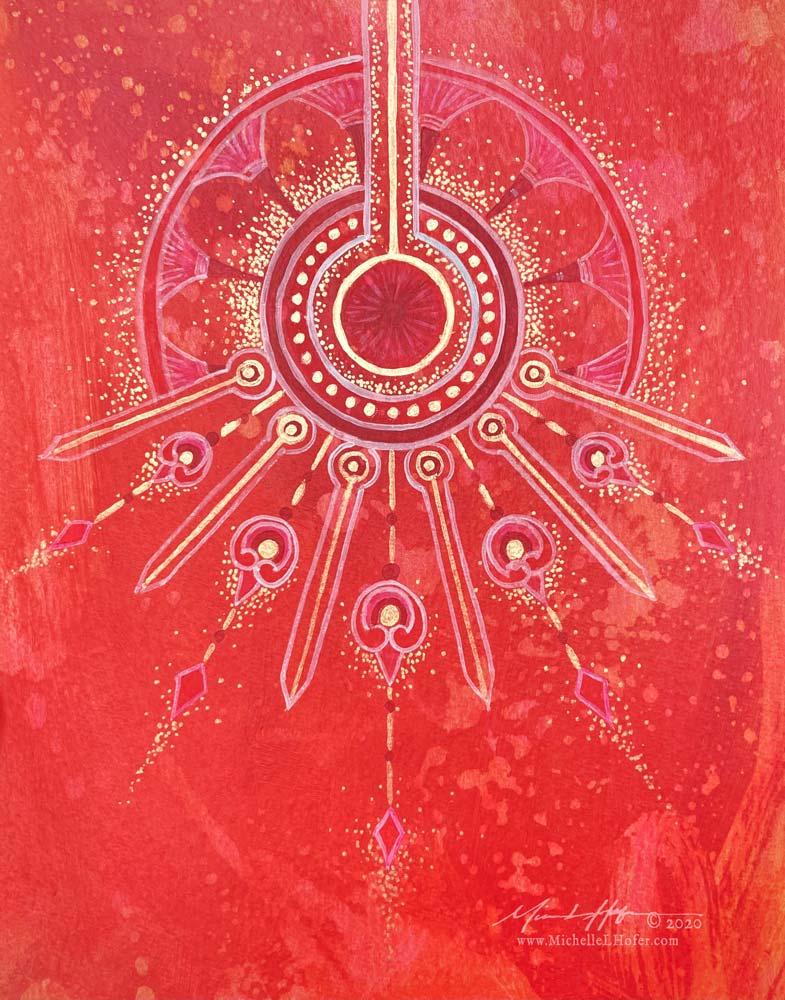 Descent of the Holy Spirit,2020 by Michelle L Hofer