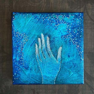Give and Receive Mini Canvas Paintings by Michelle L Hofer