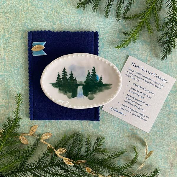 Happy Little Ceramics Large Trinket Dish by Michelle L Hofer