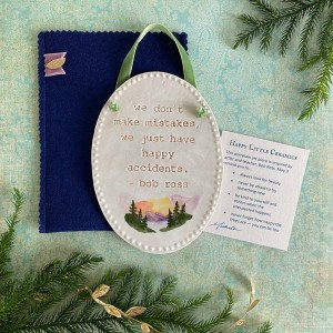 Happy Little Ceramics Wall Plaque by Michelle L Hofer