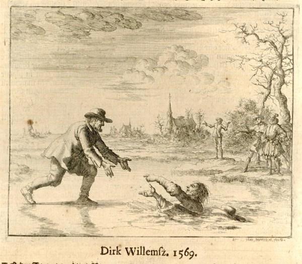 Dirk Willems Saving His Captor's Life (1685) by Jan Luykens