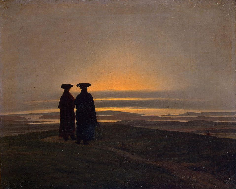Sunset (between 1830 and 1835) by Caspar David Friedrich