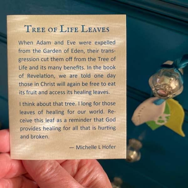 Porcelain Tree of Life Leaf - hope by Michelle L Hofer