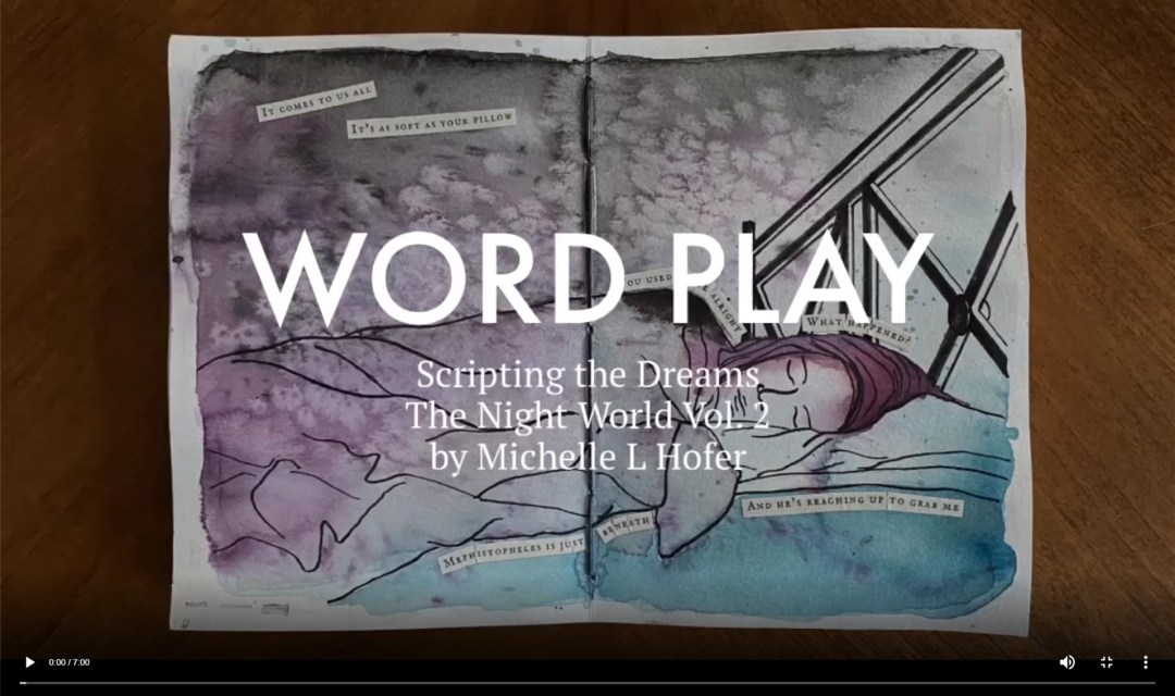 Word Play Video Link - The Night World Vol. 2 Dream Journal by Michelle L Hofer