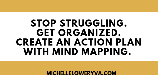 Stop Struggling. Get Organized. Create an Action Plan with Mind Mapping.