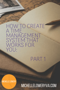 How to Create a Time Management System that Works for You: Part 1