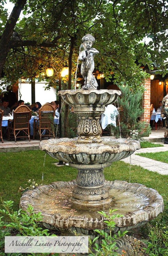 This beautiful fountain was at the restaurant where we were all treated with some local cuisine.