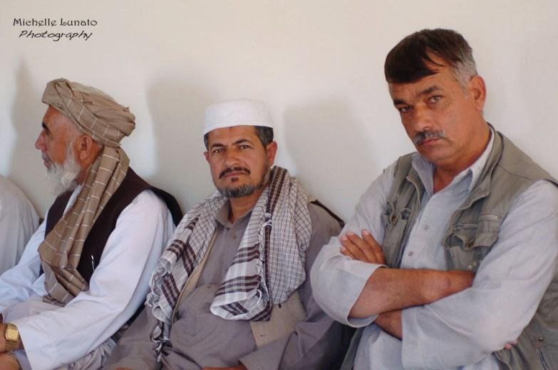 Village elders at the meeting.