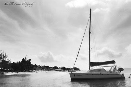 Sailboat in the sun.