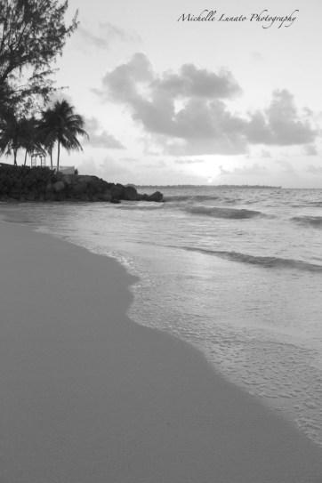 Sunrise and sand.