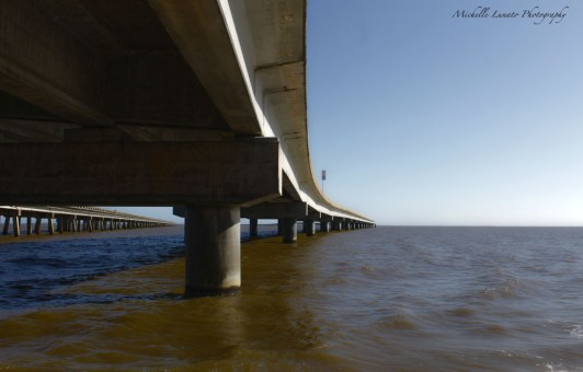 The underside of the bridge to Saint George Island. There is a very unused beach there that we enjoyed.