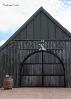 The outside view of the barn itself.