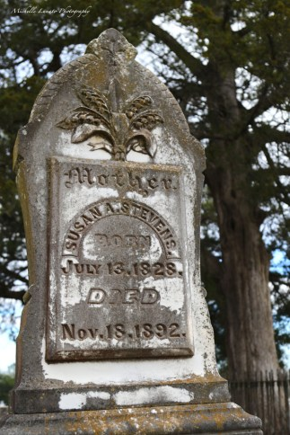 I suppose this was the way in the 1800s. However, it seems redundant to me to put DIED on a tombstone...cuz that's just kind of assumed. Don't you think?