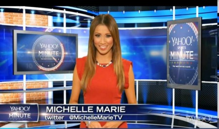 #MMSteez - Yahoo! Sports Minute : Dress - Line and Dot | Jewelry: Lia Sophia