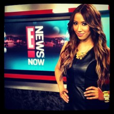 #MMSteez - E! News Now: Dress: Line and Dot | Jewelry: Jewelmint