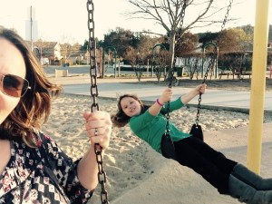 Swing at the park with your kids instead of just watching from the sidelines.