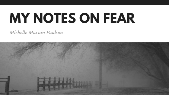 Notes on fear…