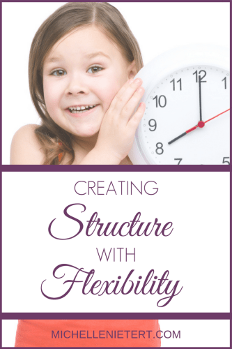 Creating structure with flexibility by Michelle Nietert.