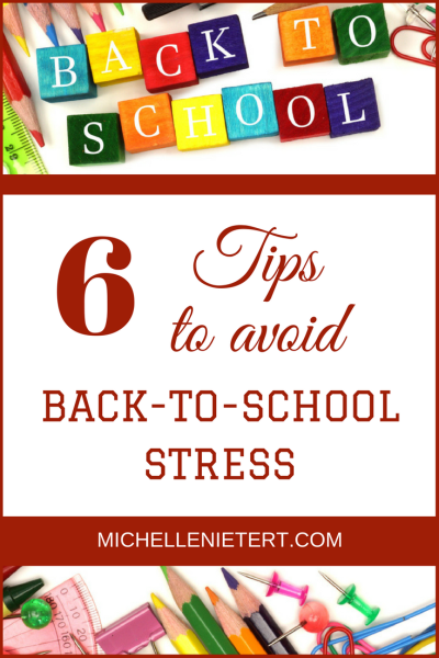 A Counselor's Tips for Avoiding Back to School Stress by Michelle Nietert, MA, Licensed Professional Counselor Supervisor