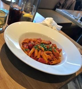 Pasta with a spicy Arrabiata tomato sauce