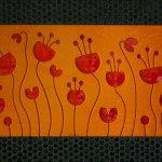 Custom Backsplash - Flora
