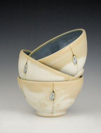 Bowl trio by Iris Dorton Pottery