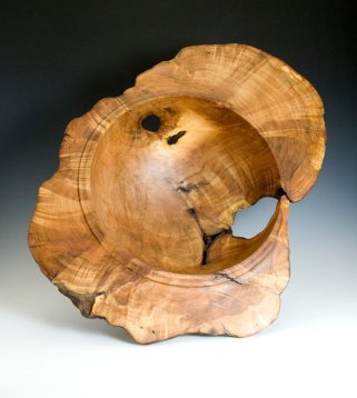 Large Burl Bowl by Jason Freiburger Woodwork