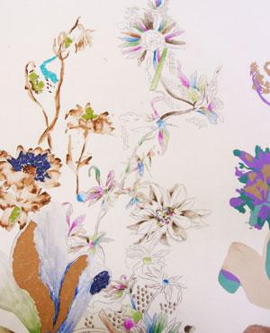 Interior Sampling for Wallpaper