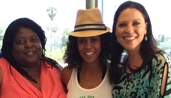 Kathleen Gati, with GH cast mates Sonya Eddy and Vinessa Antoine