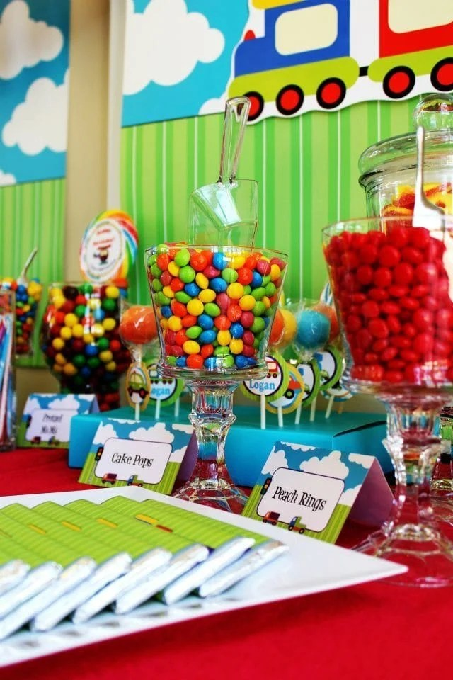 Transportation Candy Table