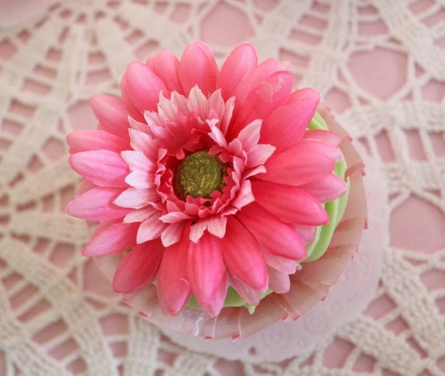 My Cup Runneth Over - A Tea Party On A Budget - flower cupcake toppers